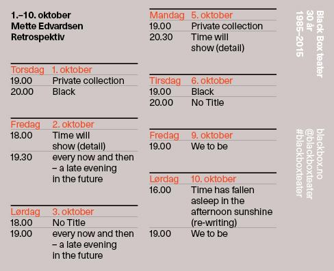 Black box teater program